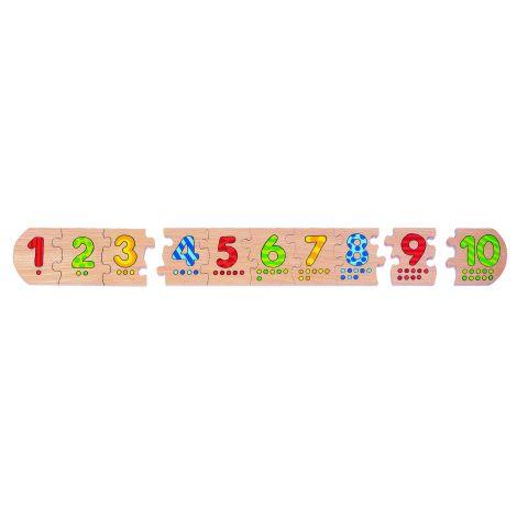 """Puzzle en bois """"chiffres"""" - à partir de 3 ans"""