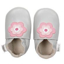 Chaussons 4279 - Gris fleurs roses Grandes tailles