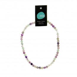 Collier perle 40 cm Fluorite