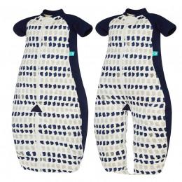 Pyjama transformable en sac de couchage - Léger Navy paint TOG 1.0 / 2-12 mois *