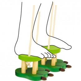 Echasses en bois crocodile - à partir de 3 ans