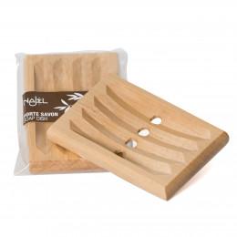 Porte-savon en bois