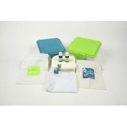 Kit TE1 lingettes lavables - bambou blanc - mandarine/citron