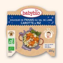 Douceur de panais du Val de Loire, carotte et riz (dès 12 mois) 230 g