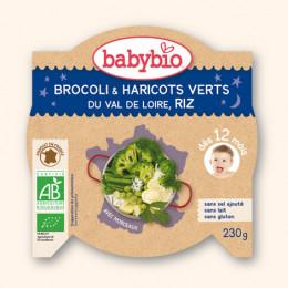 Brocoli et haricots verts du Val de Loire, riz (dès 12 mois) 230 g