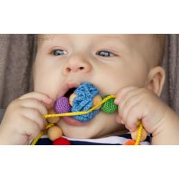 Grand anneau de dentition bébé - colori arc-en-ciel - à partir de 6 mois