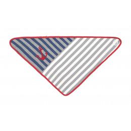 Bavoir bandana en coton BIO -  Grey Stripes