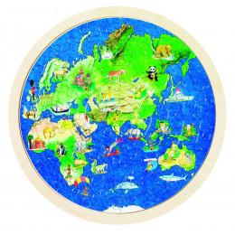 """Puzzle double face """"Globe terrestre"""" - à partir de 6 ans"""