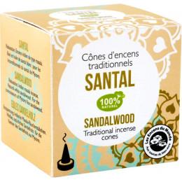 Cônes d'encens traditionnels  Santal 100% naturel