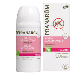 Roller anti-moustiques PranaBB - lait corporel - 30 ml