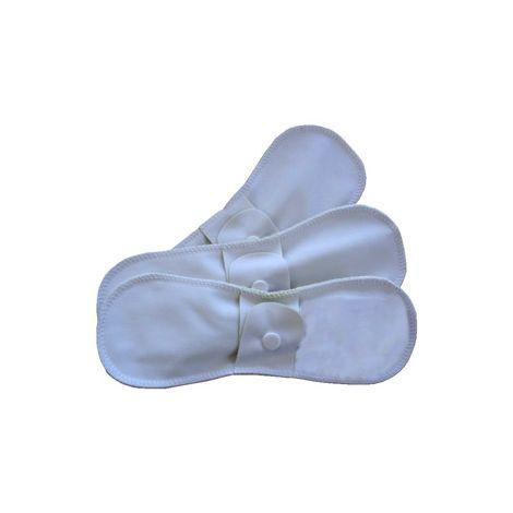 Serviettes hygiéniques lavables en chanvre - taille normale (jour) - lot de 3