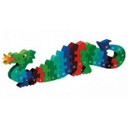 Puzzle en bois 3D dragon - chiffres - à partir de 3 ans
