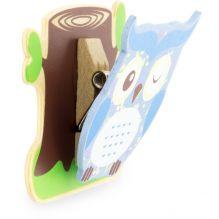Pince magnétique en bois - hibou - à partir de 3 ans