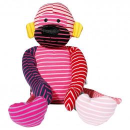 Doudou cozy toy - singe rose - dès la naissance