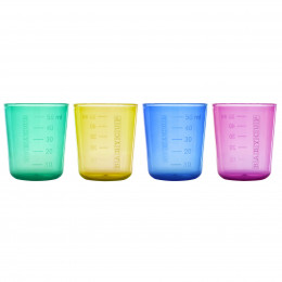 Mini verres multicolores Lot de 4