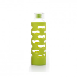 Gourde verre et silicone 570 ml Lime