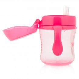 Gobelet de transition à bec souple - 180 ml - rose