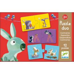 Puzzle duo contraire - à partir de 2 ans