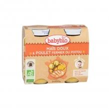 Maïs doux et poulet fermier du Poitou (dès 8 mois) 2 x 200 g