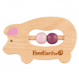 Hochet en bois FSC à perles - dès la naissance