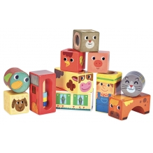 Cubes sonores de la ferme - à partir de 18 mois