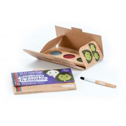 Kit de maquillage Bio 3 couleurs Sorcière et Zombie - à partir de 3 ans **