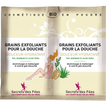 Grains exfoliants pour la douche Douceur hydratant 2 x 2,5 g