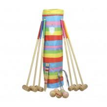 Jeu de croquet en bois 6 joueurs - à partir de 5 ans