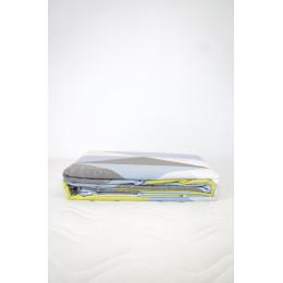 Housse de couette + 2 taies 60 x 60 cm Coton Bio Losanges bleus