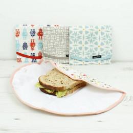 Pochette ronde pour goûters et sandwiches - Geo