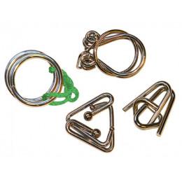 Set de 4 casse-têtes métal Junior - à partir de 8 ans *