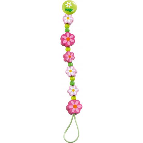 Attache-tétine 'Fleurs d'été' - dès la naissance