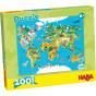 Puzzle carte du monde - 100 pièces - à partir de 6 ans