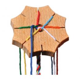 Etoile de tressage en bois - à partir de 4 ans