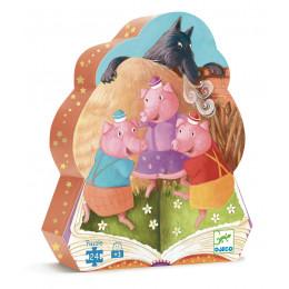 Puzzle Silhouette '3 petits cochons' - 24 pièces - à partir de 3 ans