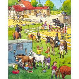 Ensemble de 3 puzzles 'Le centre équestre' - à partir de 5 ans