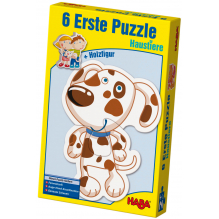 6 premiers puzzles 'Les animaux domestiques' - à partir de 2 ans