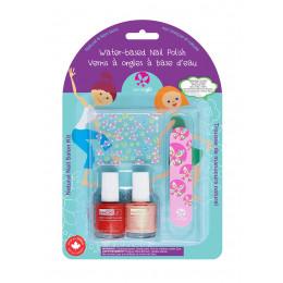 Set de 2 vernis à ongles pour enfant et accessoires - à partir de 3 ans
