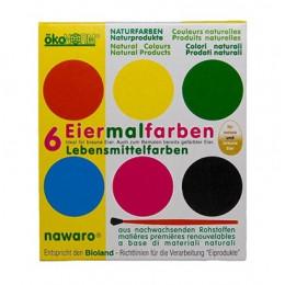 Boîte d'aquarelles naturelles  - 6 couleurs -  à partir de 3 ans