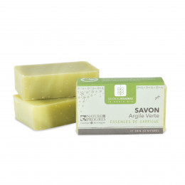 Savon argile verte essences de garrigue 100 g