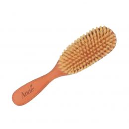 Petite brosse oblongue en bois de poirier et soies naturelles