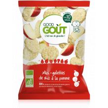 Mini-galettes de riz à la pomme - 40g - à partir de 10 mois