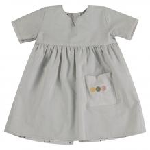 Robe réversible à pois courtes manches coton BIO