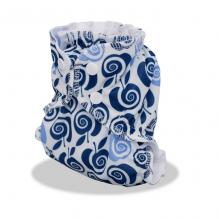 Couche lavable Pommes The Core Bleu clair et marine