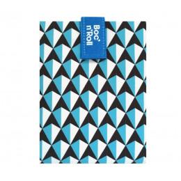Pochette sandwich lavable et réutilisable Boc'n'Roll - Tiles Blue