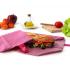 Pochette sandwich lavable et réutilisable Boc'n'Roll - Eco Pink