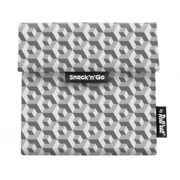 Pochette casse-croûtes lavable et réutilisable Snack'n'Go - Tiles Black
