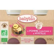 Pommes myrtille (dès 4 mois) 2 x 130 g