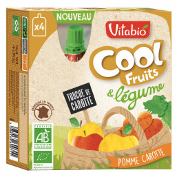 Cool Fruits - Pomme Carotte - Lot de 4 Gourdes