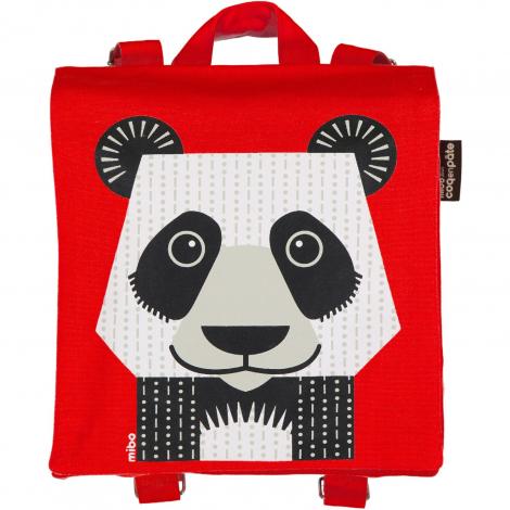 design intemporel 2c4bd 31e62 Sac à dos / cartable maternelle - Panda ROUGE